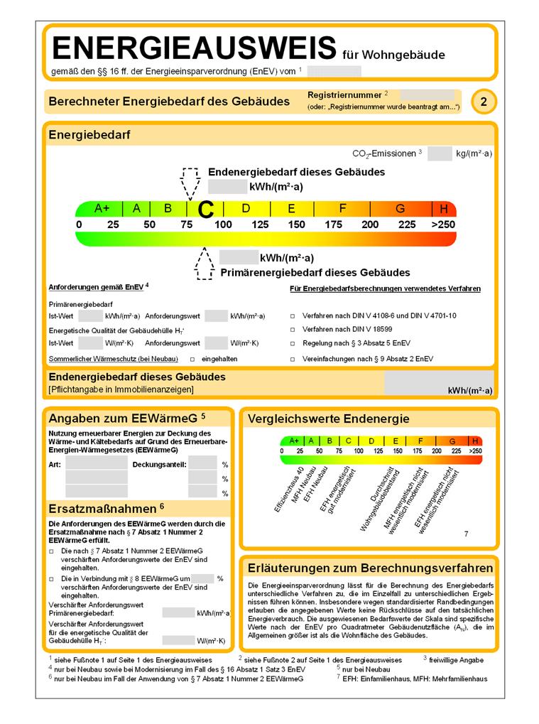 Energieausweis für Wohngebäude, Heinsen Immobilien